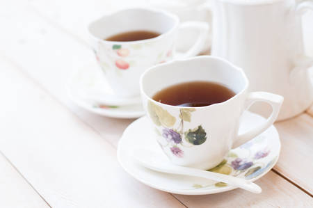Afternoon tea in cups Stock Photo - 47440769