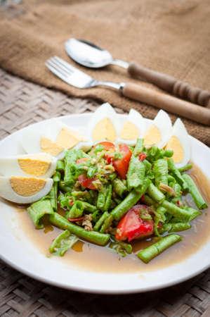 long bean: Long Bean Salad Stock Photo