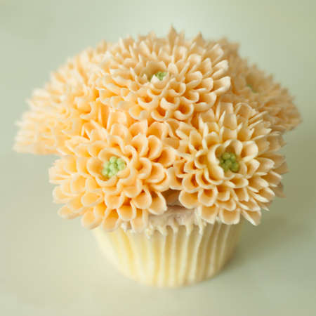 gumpaste: Flower cupcake Stock Photo