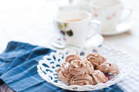 high tea: Afternoon tea with Meringue