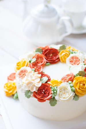 flower cake, birthday