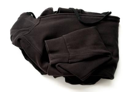 black sweater isolated on white background