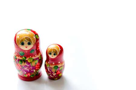 Beautiful red russian nesting dolls