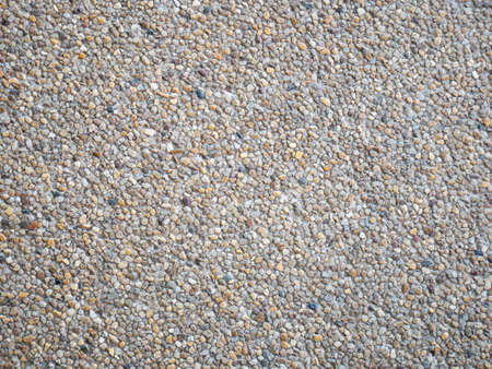 exposed aggregate finishing floor Stock Photo