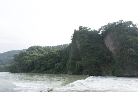 guyan: mountains with river Stock Photo