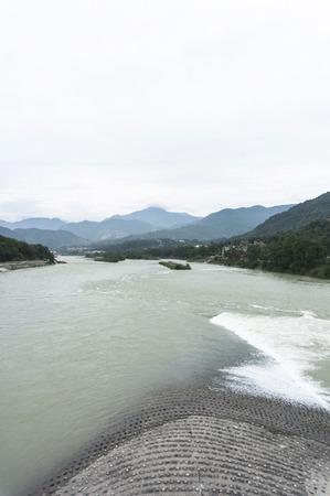 guyan: Dujiangyan, Chengdu, Sichuan, Chinadujiangyan, thanks to the water, mountain, historical Stock Photo