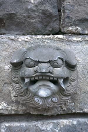 muralla china: Arte de la pared china Foto de archivo