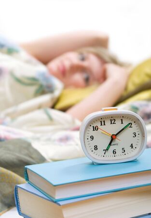 residental: sleepy woman shuts off  alarm clock