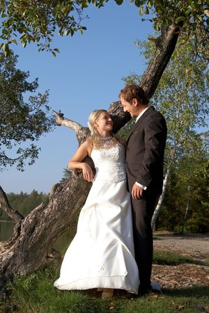 after wedding in outdoor Stock Photo - 1017817