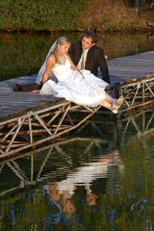 ness river: wedding steam on lake Stock Photo