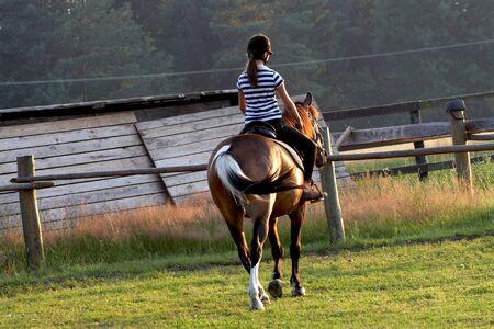 horse riding: horse riding
