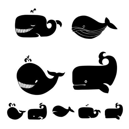 cachalot: Whales silhoutte kit.