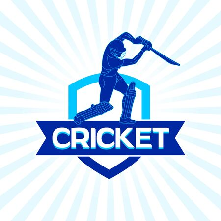 Abstract Cricket team design, concept, poster, template, banner, icon, unit, label, web, mnemonic - vector, illustration