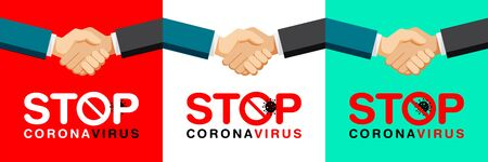 Stop Coronavirus Concepts logo design for poster, Template, Banner, Unit, Label, Web, Symbol, Mnemonic.