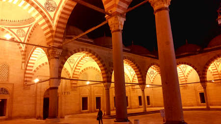 Edirne,Turkey, July 28, 2017: The Selimiye Mosque Complex at Edirne is a masterpiece of the human creative genius of the architect Sinan, the most famous of all Ottoman architects in the 16th century.