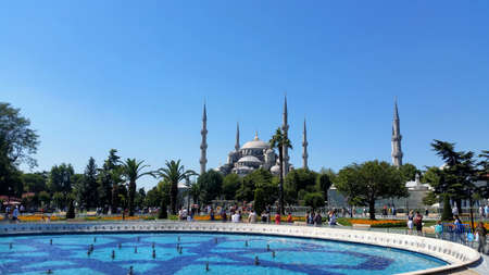 Istanbul, Turkey, July 30, 2017: The blue mosque or Sultan Ahmed Mosque