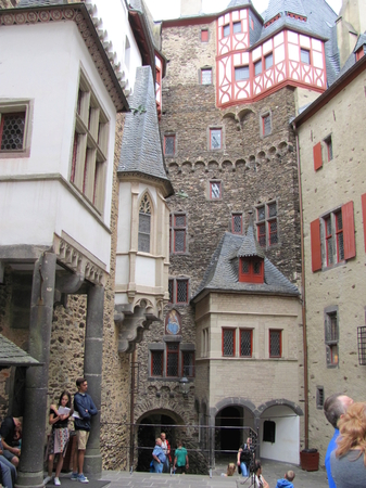 Eltz Germany, July 14, 2015:Burg Eltz castle near Mosel River valley, Germany Editorial