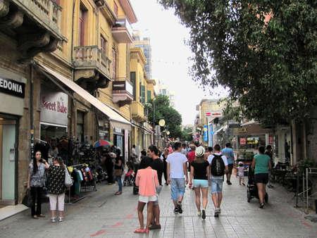 Nicosia, Cyprus - Jun 7, 2014: A street view in Nicosia, Cyprus Editorial