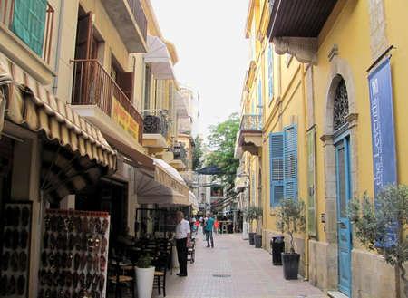 Nicosia, Cyprus - Jun 7, 2014: Little shops in Nicosia, Cyprus Editorial