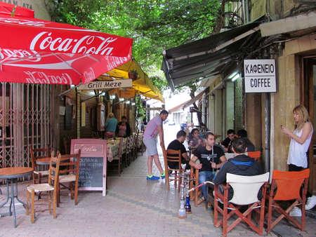 Nicosia, Cyprus - Jun 7, 2014: Little Restaurant in Nicosia, Cyprus Editorial