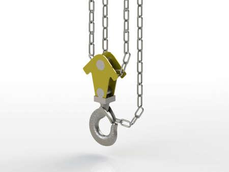 maschine: crane hook with chain
