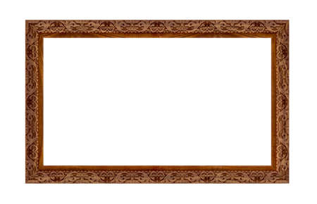 isolaten:  wooden picture art frame isolaten on white Stock Photo
