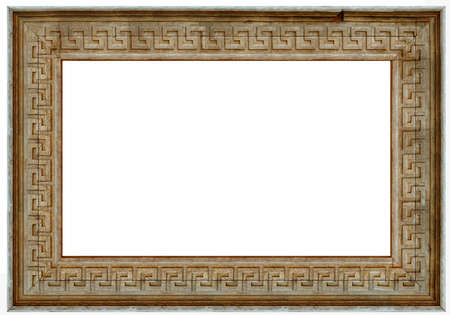 isolaten: wooden picture art frame isolated on white