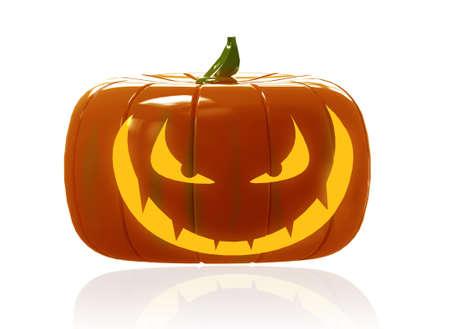 Halloween Pumpkin on white background photo