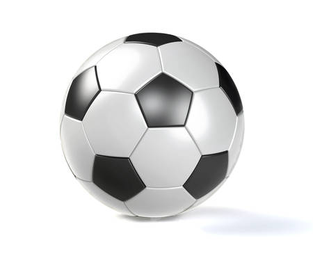 socer: Soccer ball isolated on white background with clipping path. Playing football game