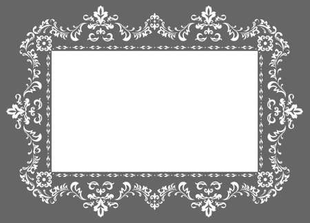 architectural styles: decorative pattern photo frame, ornament  in vector