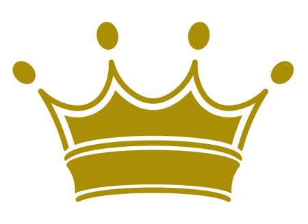 corona real: corona real clásico simple. Ilustración del vector, usted puede simplemente cambiar de color Vectores
