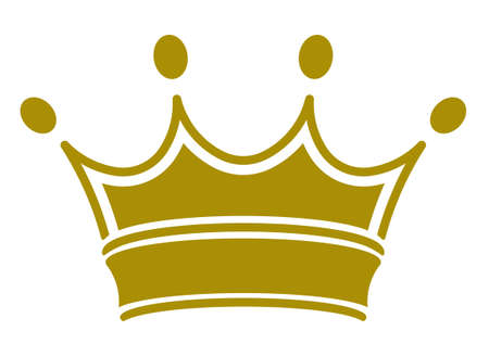 crown king: simple classic royal crown. Vector illustration, you can simply change color