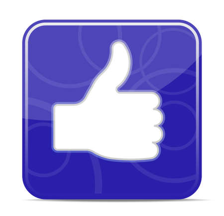 thumbs up icon: Thumbs up icon - vector illustration (EPS10), you can simply change color