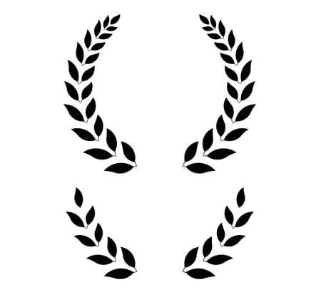 simple laurel wreath -  round and half for main emblem and bottom. Vector format, fully editable, you can change form and color. Stock Illustratie