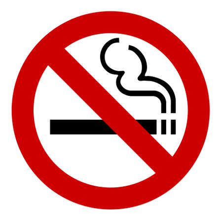 red sign: no smoking sign - vector illustration