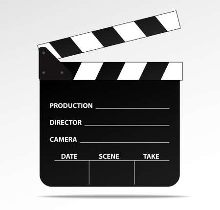 Opened clapboard - film slate -vector