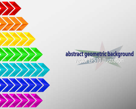 arrows background: geometric background with empty space, colorful arrows vector EPS10 Illustration