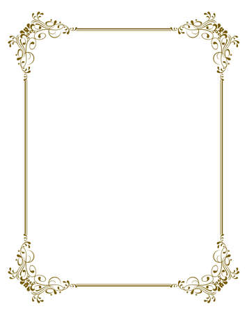 victorian frame: ornate vector frame, you can change the shape and color of elements