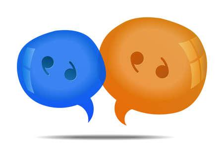discussion: Discussion - speech bubbles. Cloud talk