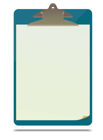 sheet of paper: Clipboard with blank paper sheet. Vector format, fully editable, you can change form and color
