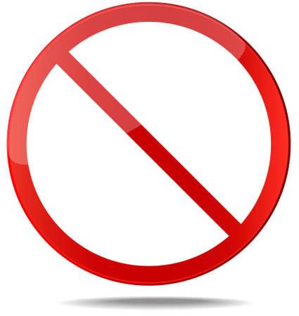 cruz roja: Censor signo. No hay señal. Signo vector prohibición Roja. Usted puede simplemente cambiar de color y tamaño