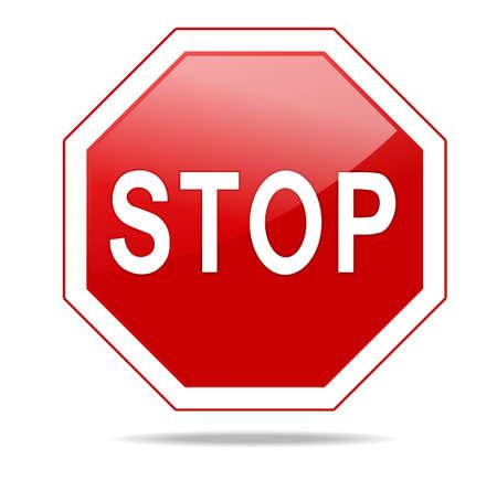 ARRÊTER stop octogonale Rouge pour des activités interdites. Vector illustration - vous pouvez simplement changer de couleur et la taille Banque d'images - 42801444