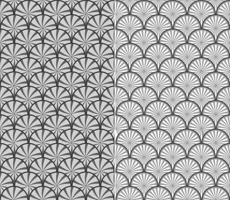 fish form: wave pattern, seamless fish scale background - vector illustration, fully editable, you can change form and color