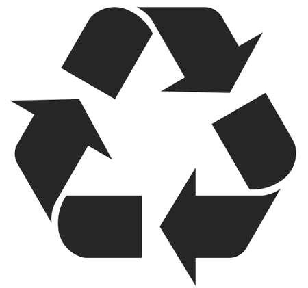 reciclar basura: símbolos de reciclaje - ilustración completamente editables, puede cambiar la forma y el color Vectores
