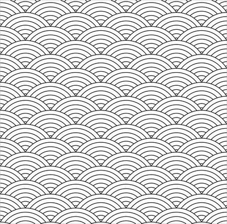 repetition: seamless fish scale texture - vector background, fully editable, you can change form and color