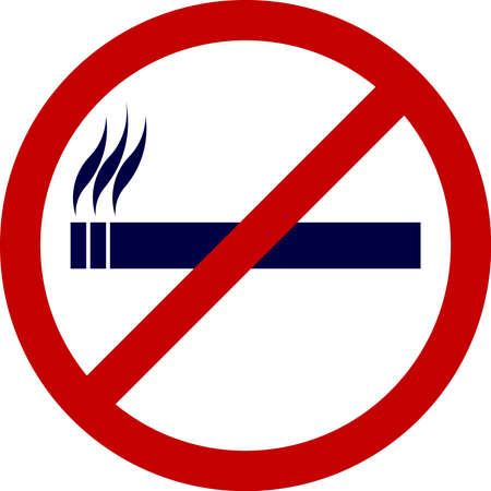 no color: no smoking sign - vector illustration fully editable, you can change form and color