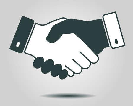 Handshake icône, le partenariat, le concept de la finance d'entreprise - illustration vectorielle entièrement éditables, vous pouvez changer forme et la couleur Banque d'images - 43662750
