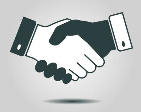 handshake icon, partnership, business finance concept - vector illustration fully editable, you can change form and color Vettoriali