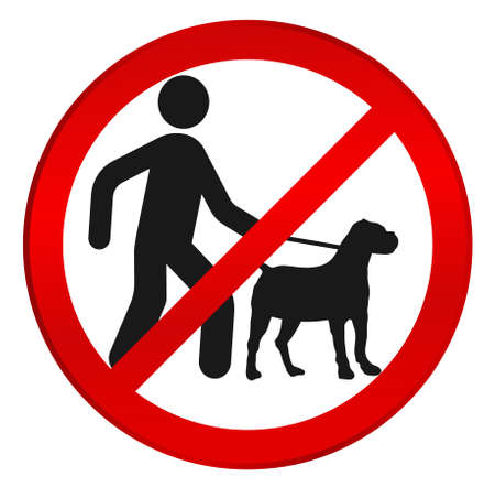No dog sign. Not dogs. No crossing with dogs -  vector illustration well layered, fully editable, you can change form and color