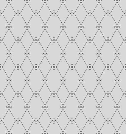 revivalism: decoration seamless grid ornament pattern, vector background fully editable, you can change form and color Illustration